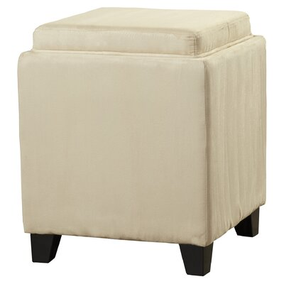 Nicholson Cube Storage Ottoman Upholstery: Cream