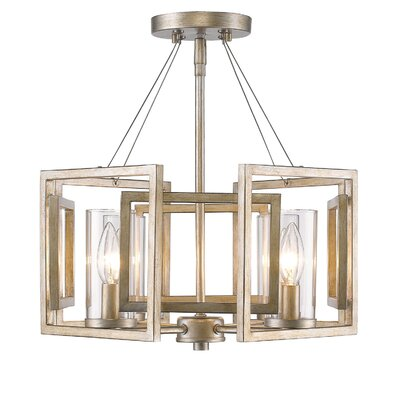 Politte 4-Light Semi Flush Mount Finish: White Gold