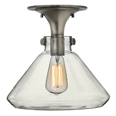 Bunnell 1-Light Semi Flush Mount Finish: Antique Nickel