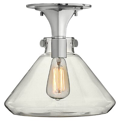 Howells 1-Light Semi Flush Mount Finish: Chrome