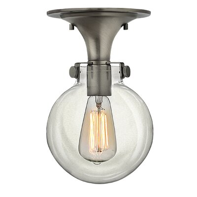 Bunnell 1-Light Semi-Flush Mount Finish: Antique Nickel