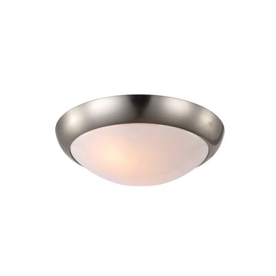 Ardsley 12 Glass Ceiling Fan Bowl Shade Finish: Brushed Steel