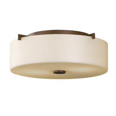 Brundage 2-Light Flush Mount Finish: Corinthian Bronze