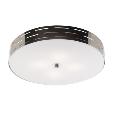 Cassette 1-Light Flush Mount Size: 3 H x 10 W x 10 D