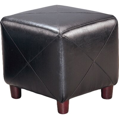 Svendsen Foot Stool Upholstery: Black