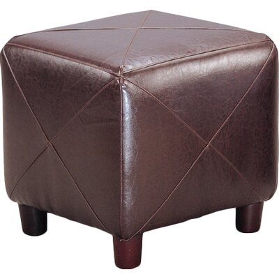 Svendsen Foot Stool Upholstery: Dark Brown