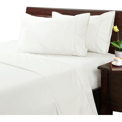 Myricks 500 Thread Count Sheet Set Size: Twin, Color: Ivory