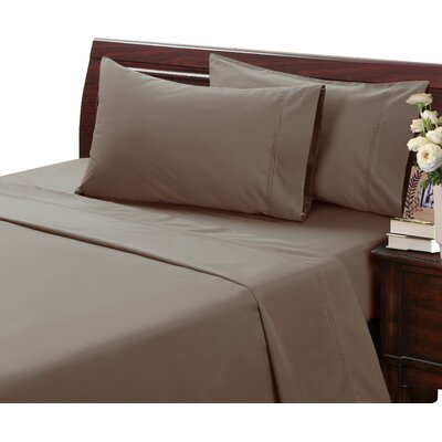 Myricks 500 Thread Count 100% Cotton Sheet Set Color: Caribou, Size: California King