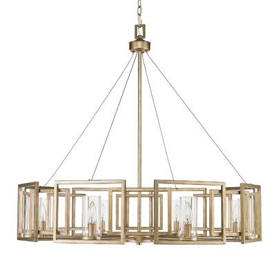 Sean Candle Style Chandelier Finish: White Gold, Size: 8 Light