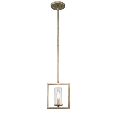Politte 1-Light Mini Pendant Finish: White Gold