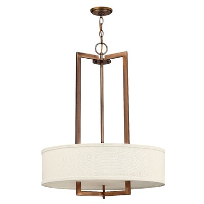 Allenhurst 3-Light Drum Pendant Finish: Brushed Bronze, Bulb Type: FSI, Size: 30.3 H x 26 W x 26 D