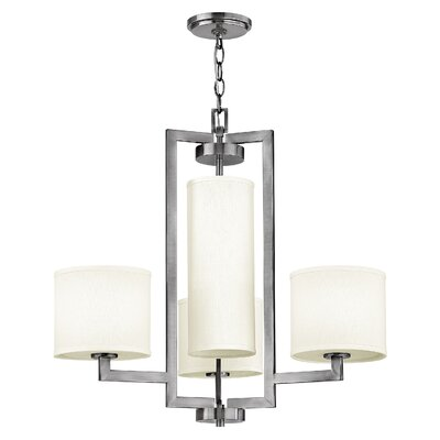 Allenhurst 4-Light Antique Nickel Shaded Chandelier