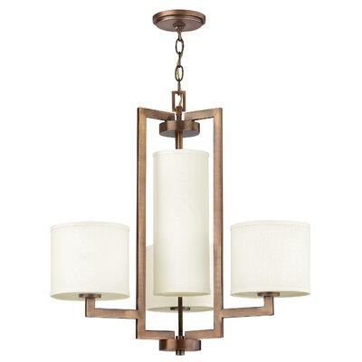 Allenhurst 4-Light Buckeye Bronze Shaded Chandelier