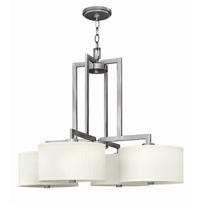 Allenhurst 4-Light Metal Drum Pendant Finish: Antique Nickel