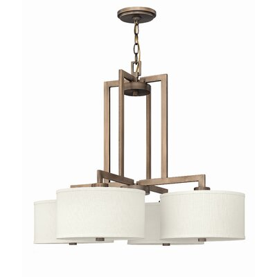 Allenhurst 4-Light Metal Drum Pendant Finish: Brushed Bronze