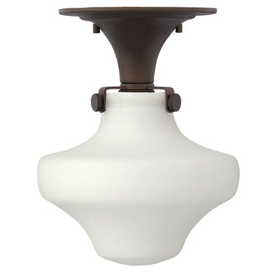 Bunnell Contemporary 1-Light Semi Flush Mount Fixture Finish: Oil Rubbed Bronze, Bulb Type: 18W GU24