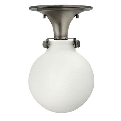 Bunnell Contemporary 1-Light 100W Semi Flush Mount Fixture Finish: Antique Nickel, Bulb Type: 18W GU24