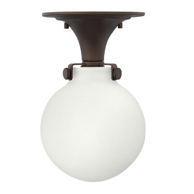 Bunnell Contemporary 1-Light 100W Semi Flush Mount Fixture Finish: Oil Rubbed Bronze, Bulb Type: 18W GU24