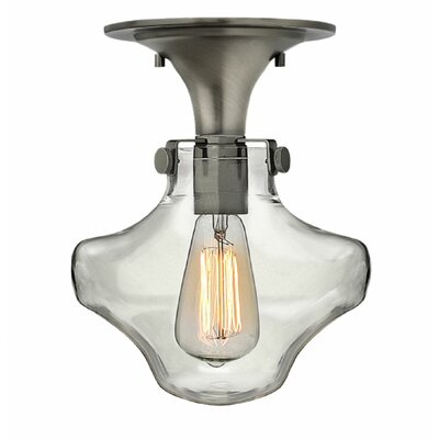 Bunnell 1-Light 100W Semi-Flush Mount Finish: Antique Nickel
