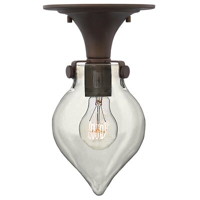 Bunnell Contemporary 1-Light 100W Semi Flush Mount Finish: Oil Rubbed Bronze
