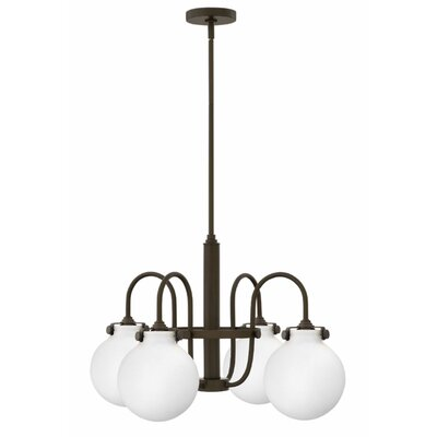 Bunnell 4-Light Globe Shaded Chandelier Finish: Oil Rubbed Bronze