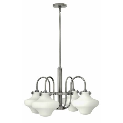 Bunnell 4-Light Steel Shaded Chandelier Finish: Antique Nickel