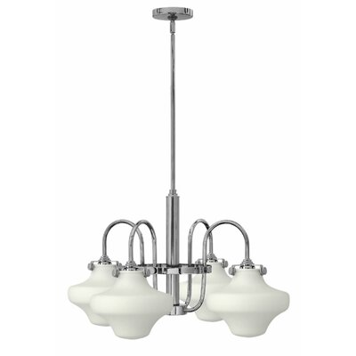 Bunnell 4-Light Steel Shaded Chandelier Finish: Chrome