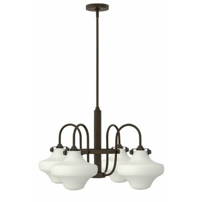Howells 4-Light Shaded Chandelier Finish: Oil Rubbed Bronze