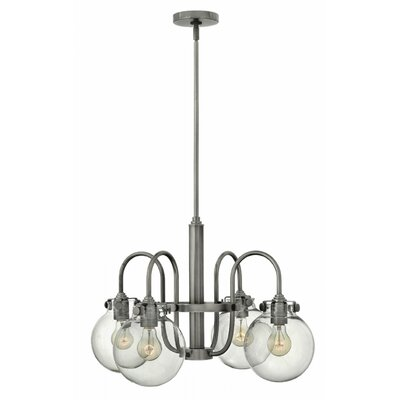 Bunnell Traditional 4-Light Shaded Chandelier Finish: Antique Nickel