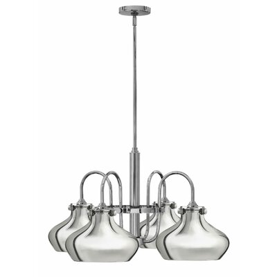 Bunnell 4 Light Shaded Chandelier Finish: Chrome