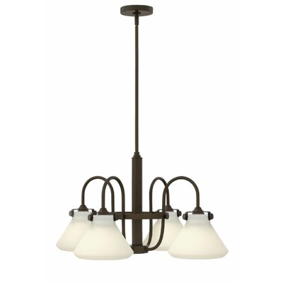 Bunnell 4-Light Cone Shaded Chandelier Finish: Oil Rubbed Bronze