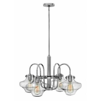 Bunnell 4-Light Shaded Chandelier Finish: Chrome