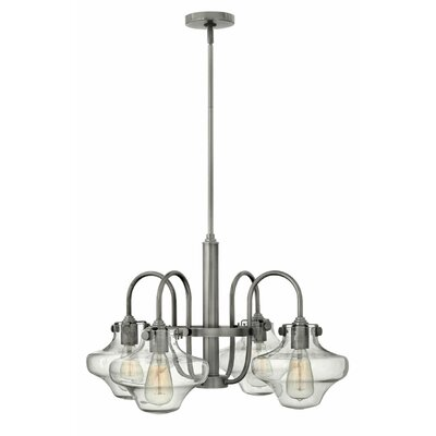 Bunnell 4-Light Shaded Chandelier Finish: Antique Nickel