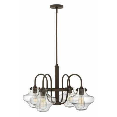 Bunnell 4-Light Shaded Chandelier Finish: Oil Rubbed Bronze