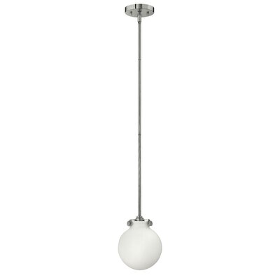 Bunnell 1-Light Globe Pendant Finish: Chrome, Bulb Type: 18W GU24