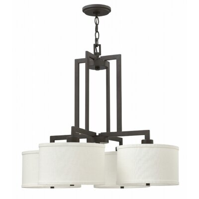 Allenhurst 4-Light Bronze Drum Chandelier