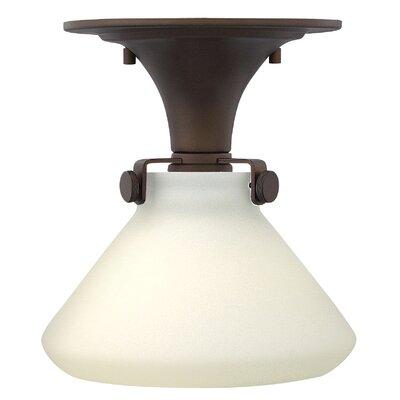 Howells 1-Light Semi-Flush Mount Size: 9.5 H x 8 W, Bulb Type: 15W LED, Finish: Oil Rubbed Bronze