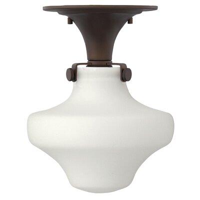 Howells 1-Light Semi-Flush Mount Bulb Type: 15W LED, Finish: Oil Rubbed Bronze