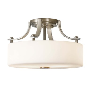 Brundage 2-Light Semi Flush Mount Finish: Brushed Steel