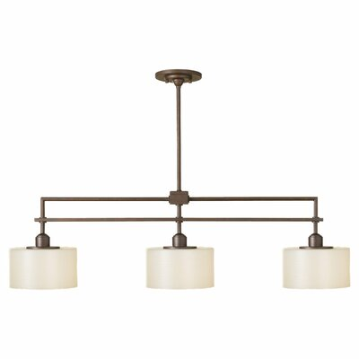Brundage 3-Light Kitchen Island Pendant Finish: Corinthian Bronze