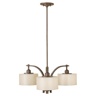 Brundage 3-Light Drum Chandelier Finish: Corinthian Bronze