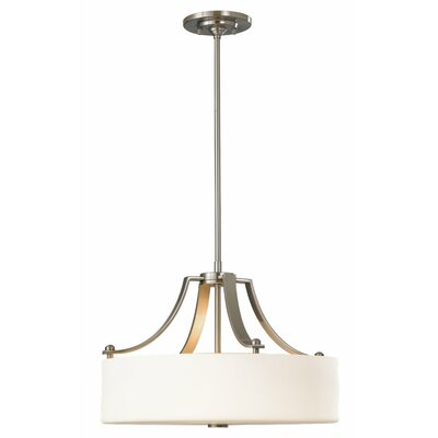 Brundage 3-Light Pendant Finish: Brushed Steel