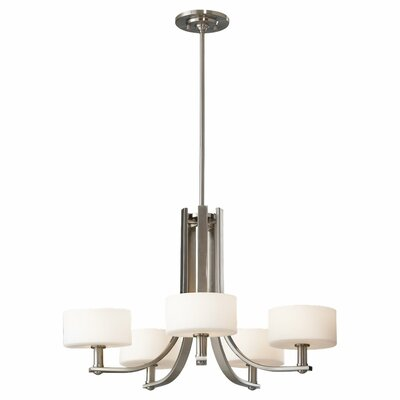 Brundage 5-Light Drum Chandelier Finish: Brushed Steel