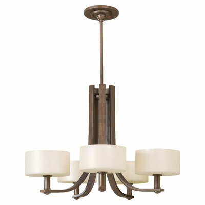 Brundage 5-Light Drum Chandelier Finish: Corinthian Bronze