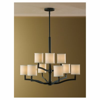 Strope 9-Light Shaded Chandelier