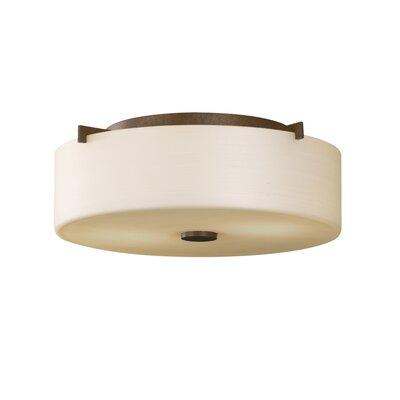 Brundage 2-Light Flush Mount Bulb Type: Self Ballasted CFL GU24 13W, Finish: Corinthian Bronze