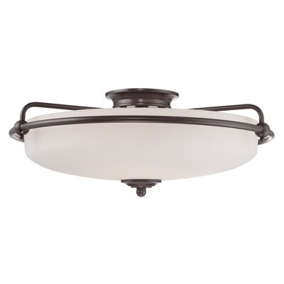 Helsley 4-Light Semi Flush Mount Finish: Palladian Bronze
