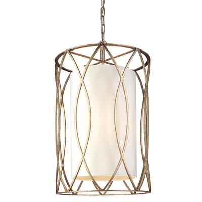 Balducci 8-Light Entry Pendant Size: Medium, Finish: Silver/Gold