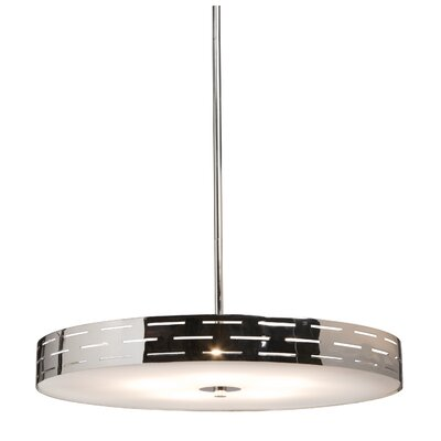 Cassette 4-Light Drum Pendant Size: Small