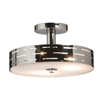 Cassette 3-Light Semi Flush Mount